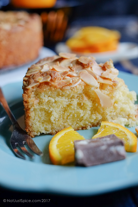 Almond Cake on notjustspice.com