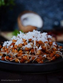 Black Chickpea Sprouts Sundal | Black Chickpea Sprouts Salad, Indian Style on notjustspice.com
