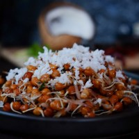 Black Chickpea Sprouts Sundal | Black Chickpea Sprouts Salad, Indian Style