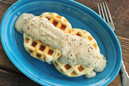 Waffles Homemade Biscuits and Gravy