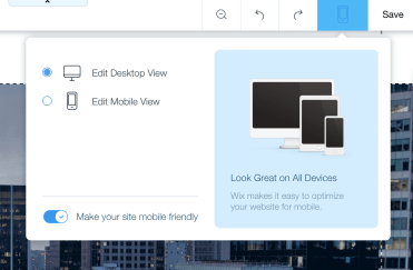 Wix loads separate sites for mobile and desktop devices. Bad news bears.