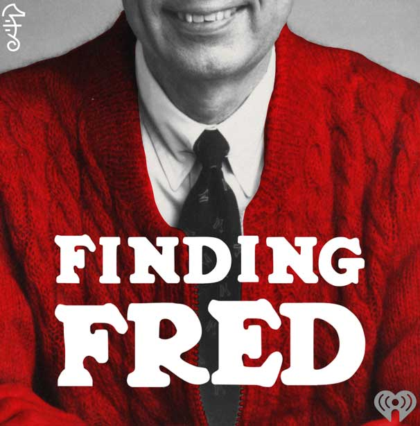 The cover of Findng Fred pocast, showing a picture of Mr. Rogers' red sweater