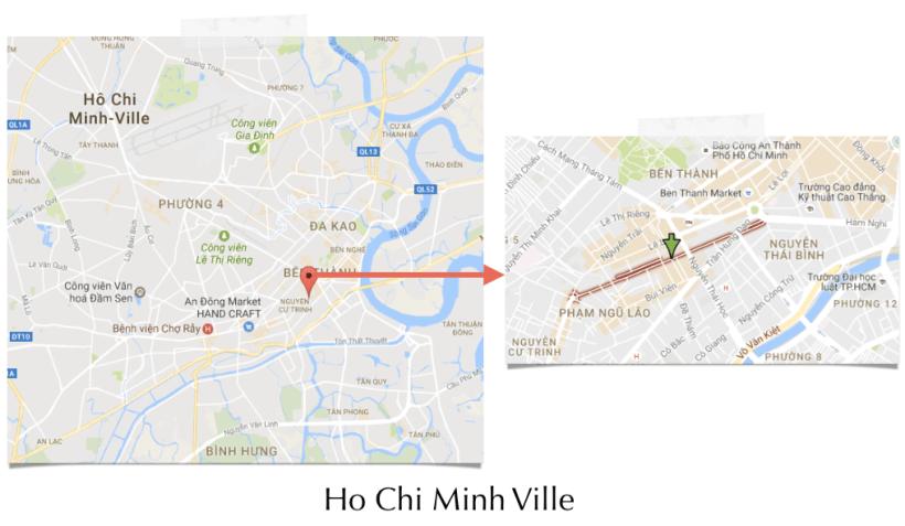 Quarter de Pham Ngu Lao à Ho Chi Minh City pour acheter une moto au Vietnam - extrait du guide NotMad