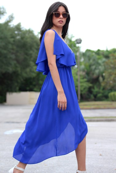 Blue-Flowy-Midi-Dress