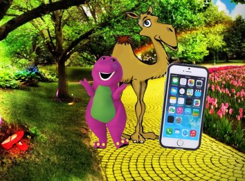 Dinosaur, Camel, iPhone
