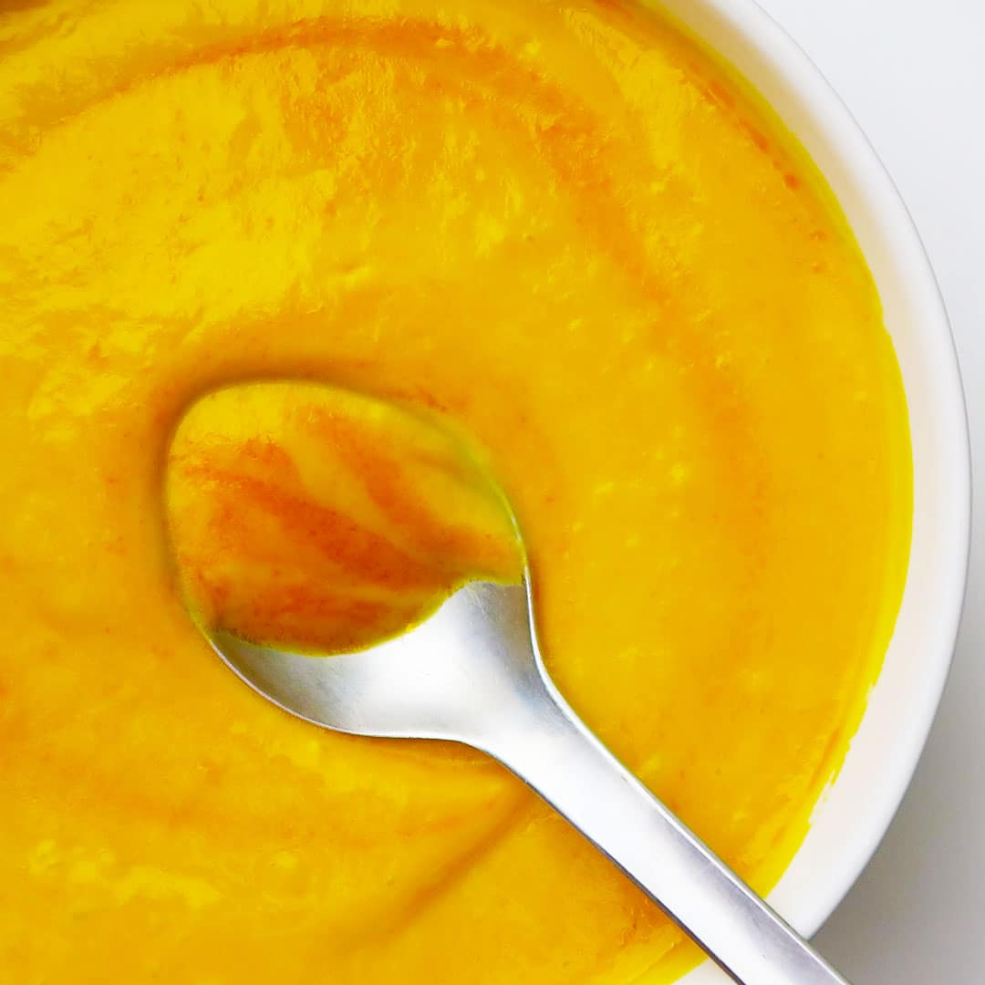 Orange-Infused Carrot Soup with Ginger & Red Curry - Vegan and Vegetarian Options