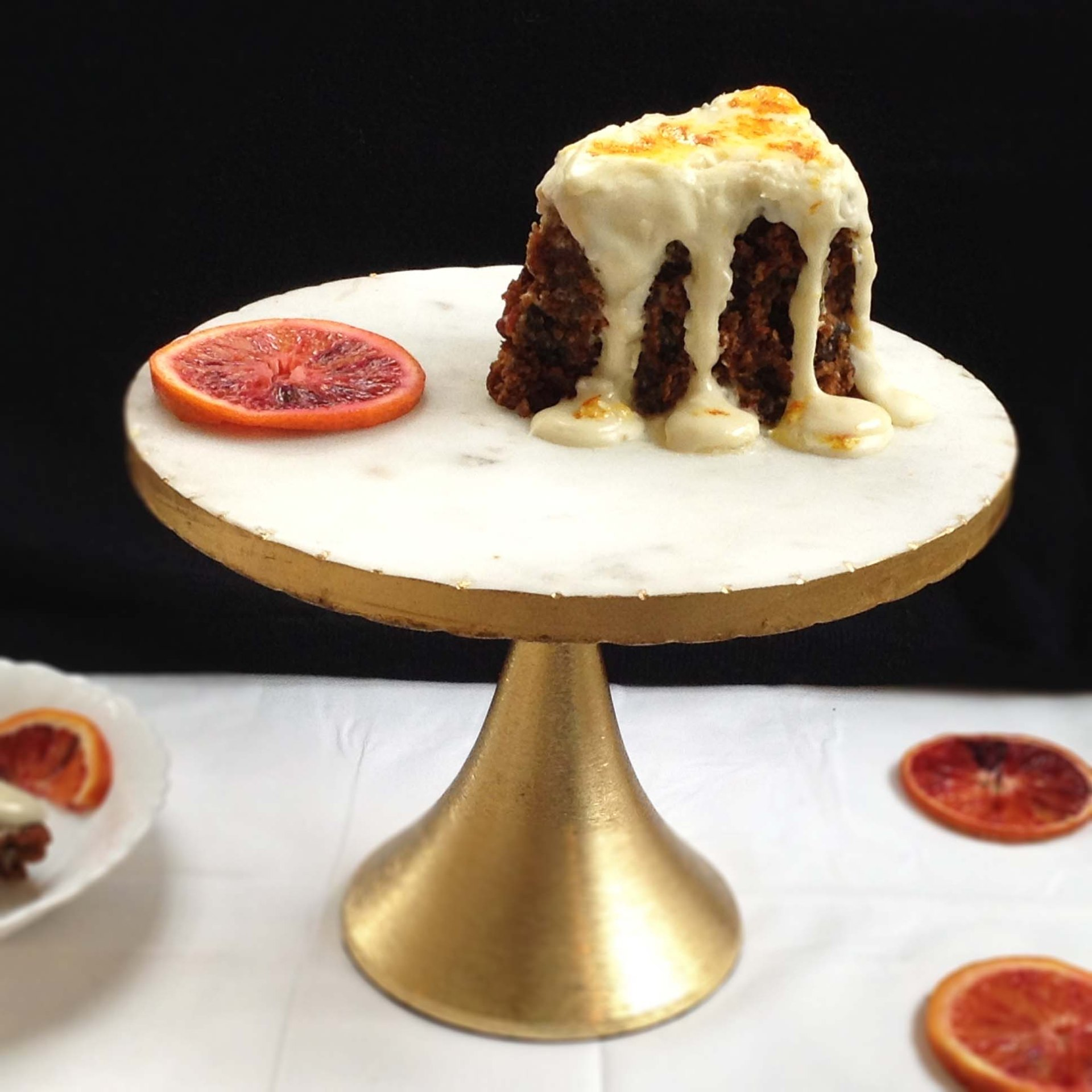 Carrot Cake with Blood Orange Cream Cheese Icing
