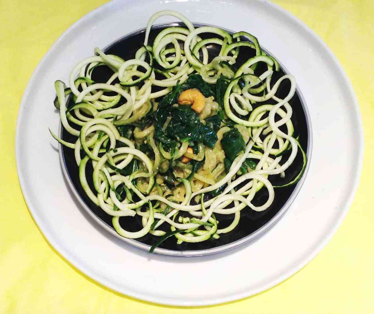 zucchini-with-spinach-and-miso-butter