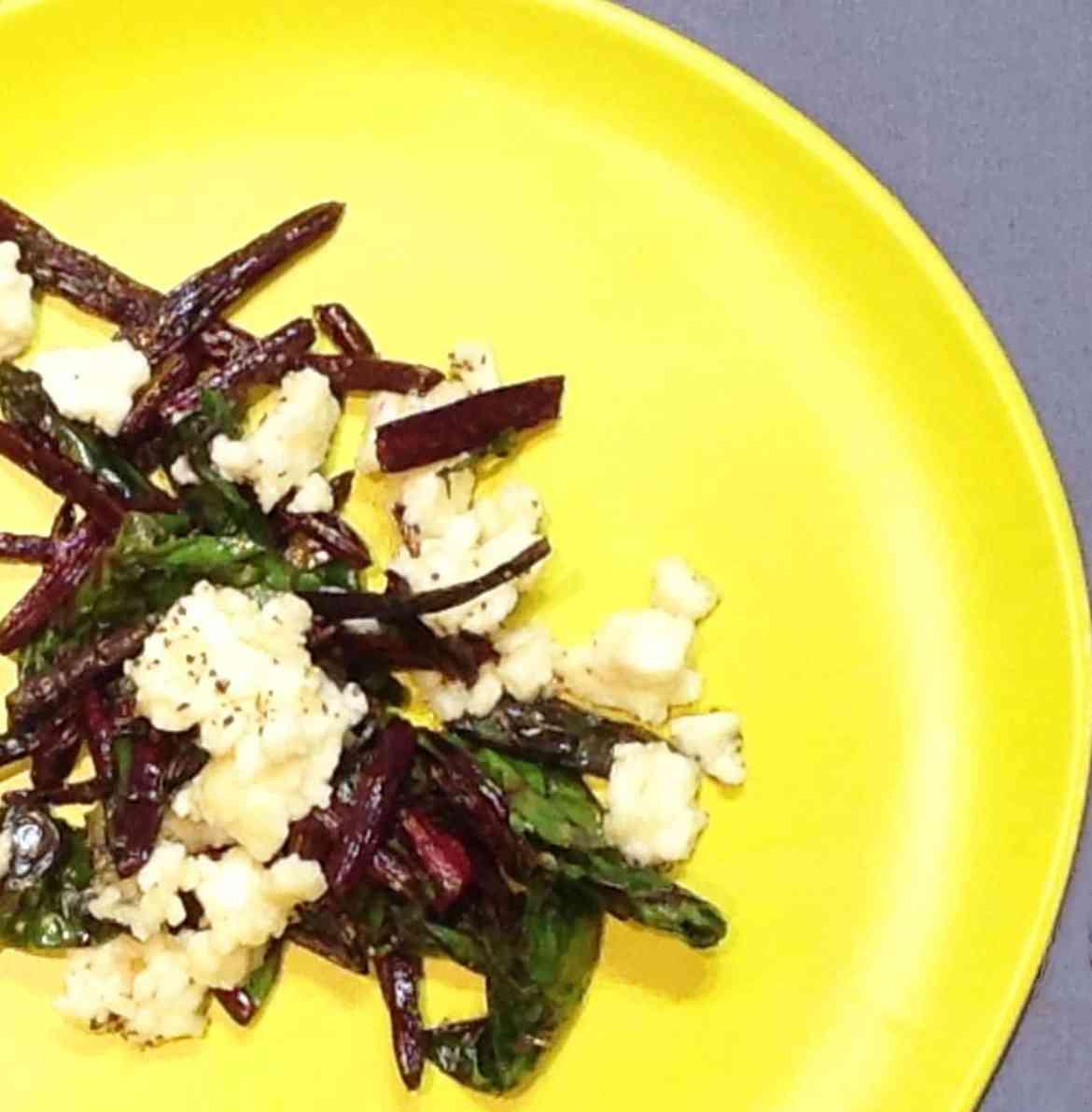 fried-beet-top-salad