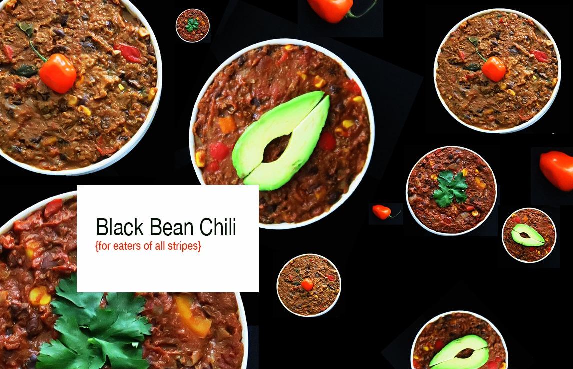 Simple Black Bean Chili – Vegan, Vegetarian, and Omnivore Options