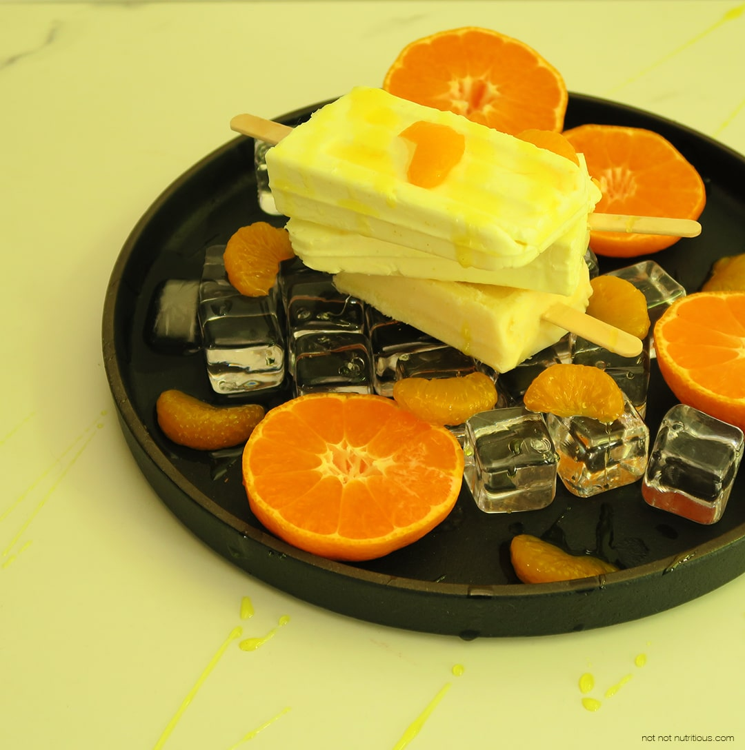 Mandarin Creamsicles - Vegan and Vegetarian Options
