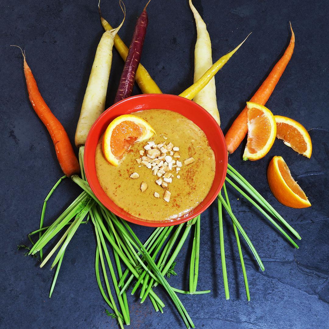 Spicy Orange Cashew Dip