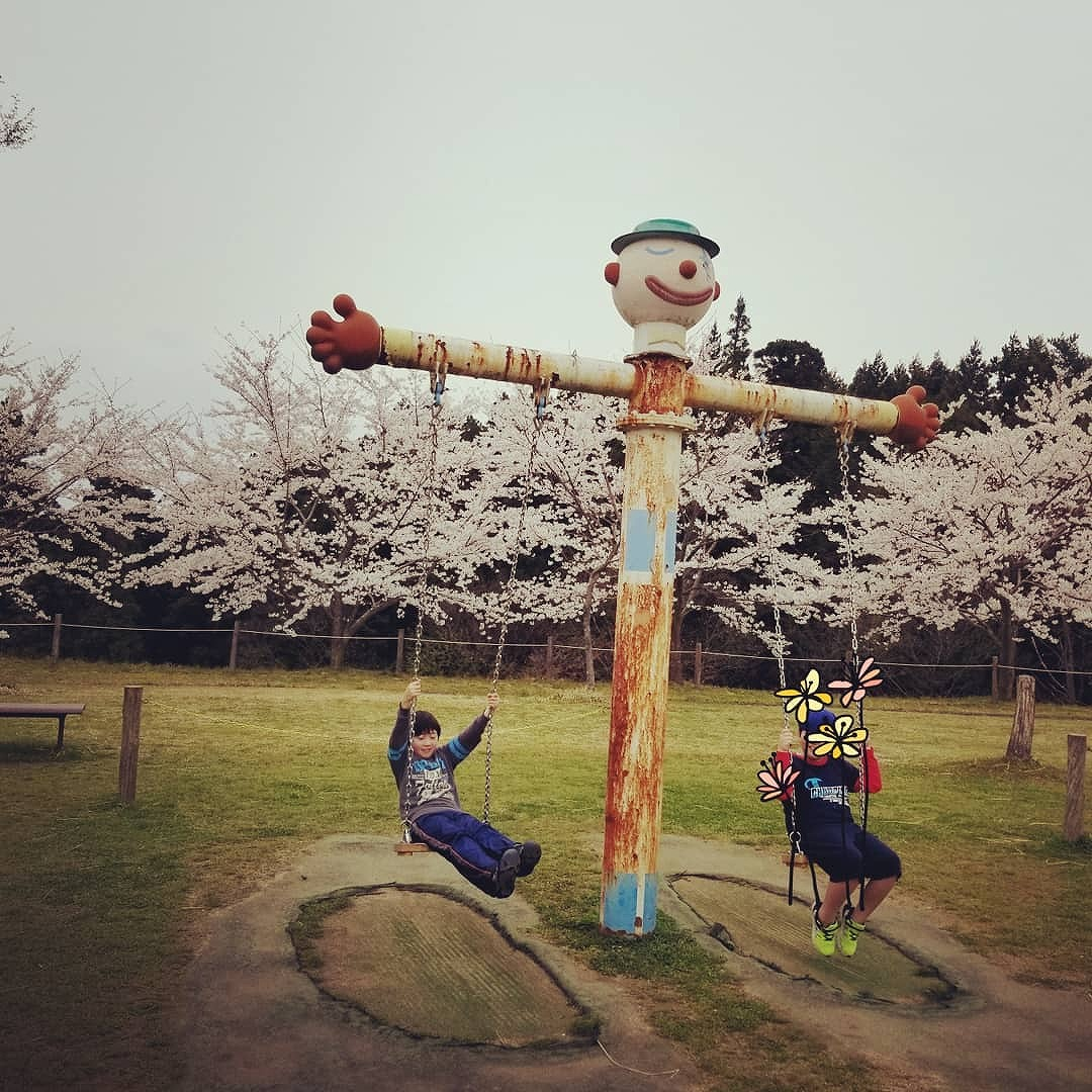七尾の桜の名所でもある「希望の丘公園」は子供から大人まで楽しめる多目的公園【七尾市】