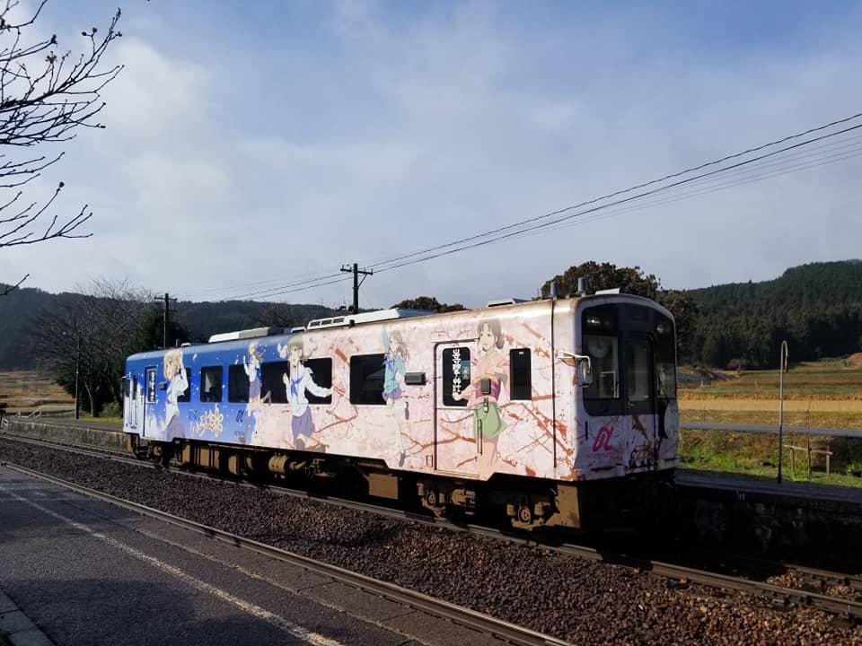 アニメ「花咲くいろは」の舞台のと鉄道「西岸駅」【七尾市】