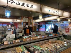 心を込めてのお土産に選りすぐりの品々を提供する山成水産(どんたく)【七尾市 能登食祭市場内】