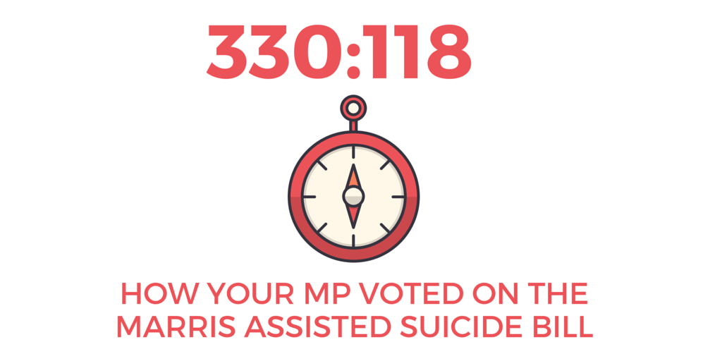 330:118 – How your MP voted on the Marris assisted suicide Bill