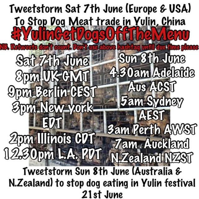 Tweetstorm Cancel Yulin Dog Meat June 7th Saturday