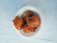 Yuca smażona z miodem_Yuca fried with honey