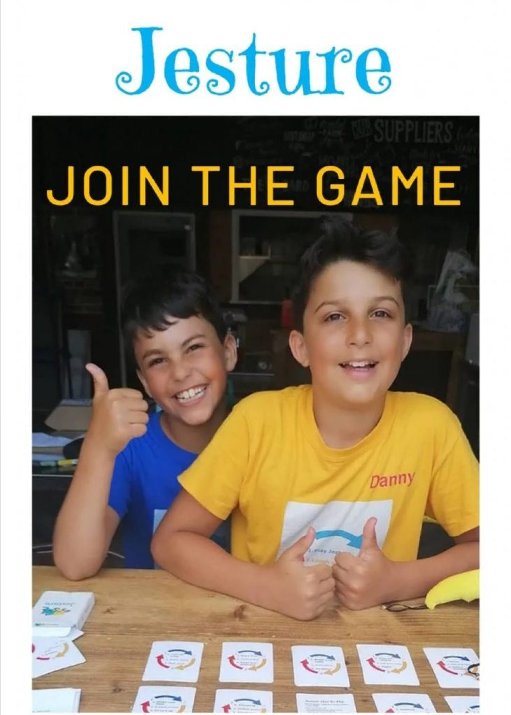 Jesture, a brand-new family game created during lockdown by two young brothers