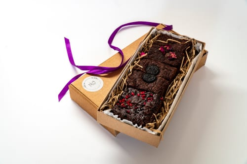 Vegan and gluten friendly brownies by post