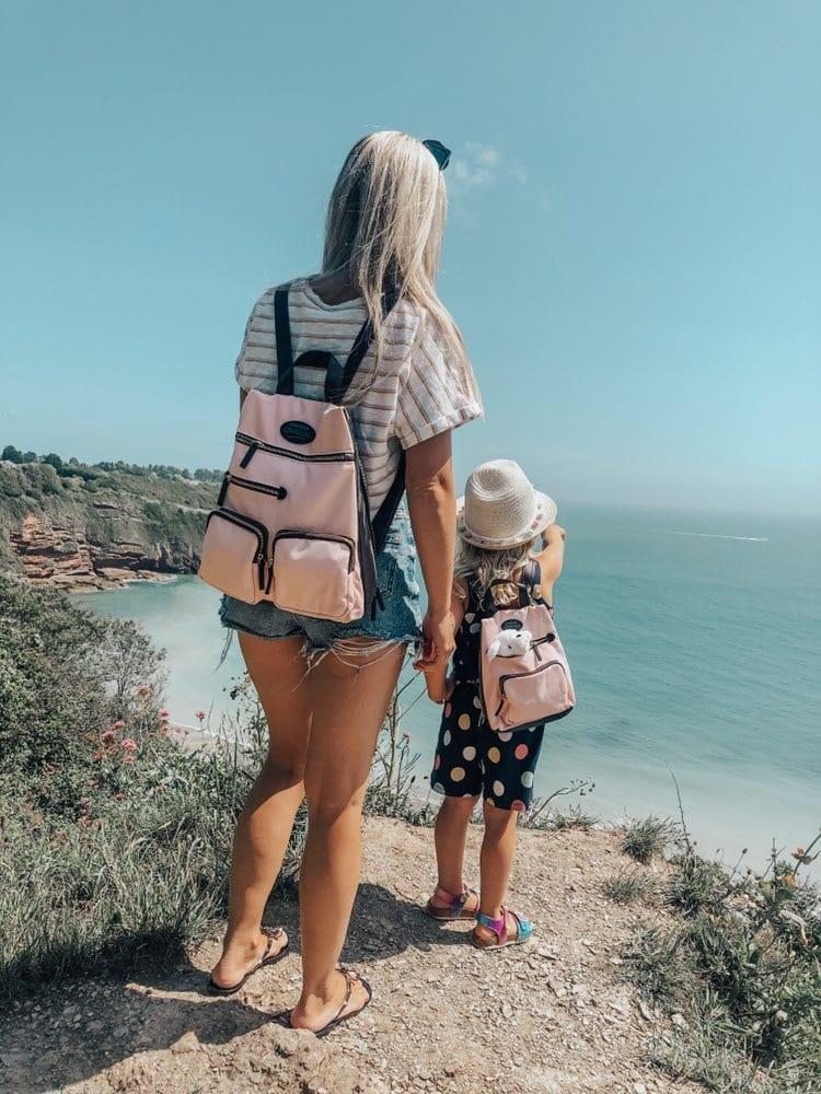 Pink & grey rucksack