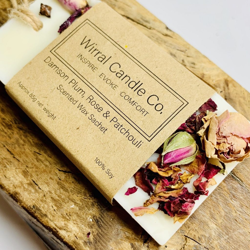 Wrapped wax sachet