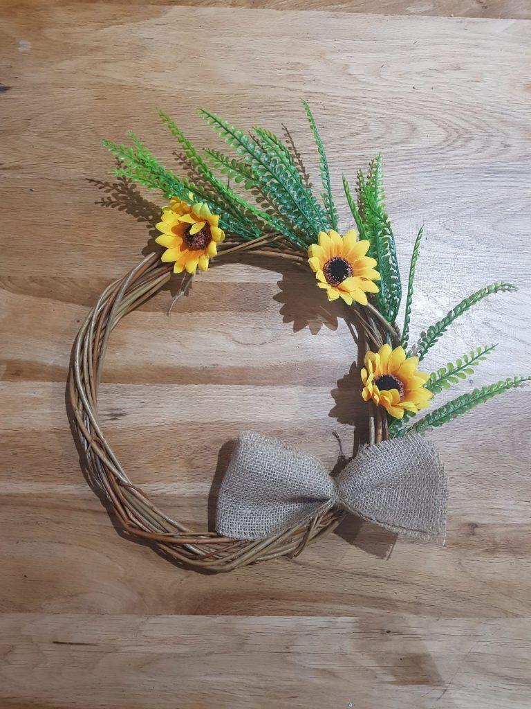 Sunflower Willow Wreath