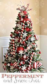 Peppermint and Snow Tree
