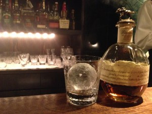 Blanton's Bourbon with ice ball