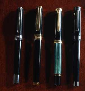 Visconti Opera, Waterman Exception, Pelikan M800, Montegrappa Parola Stealth Black