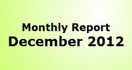 Monthly Report December 2012