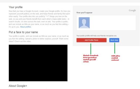 Membuat Email Setup Profile