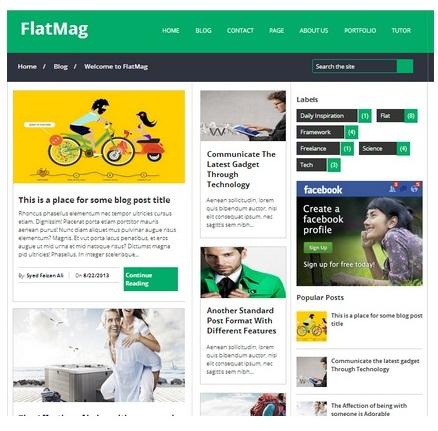 FlatMag Blogger Template Gratis Siap Adsense