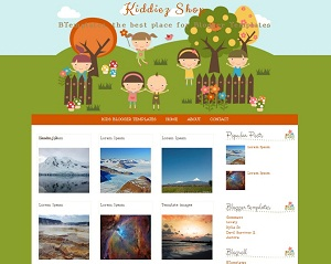 Kiddiez Shop Template