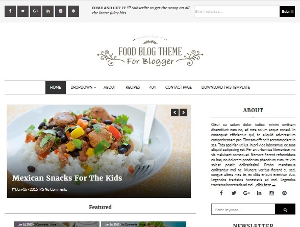 template-blogger-food-blog
