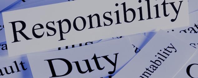 Responsibility Duty