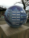A series of these ornamented globes were along the western side of museumplein