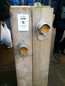 Winter feeding station for birds