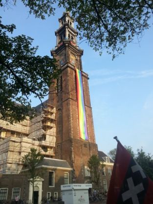 Even the church supports Gay Pride (Westerkerk)