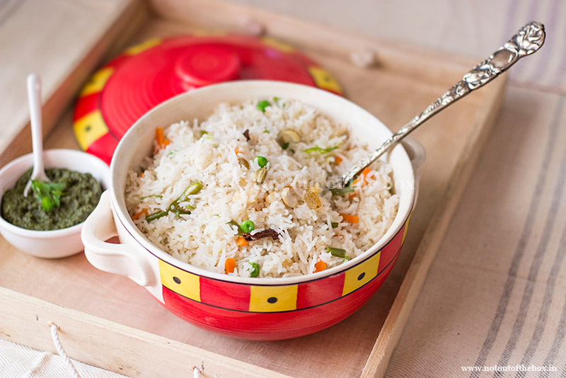 Ghee Rice/Bengali style Veg Fried Rice   Not Out of the Box