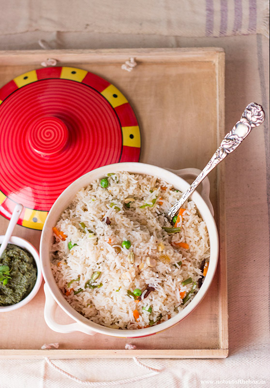 Ghee Rice Bengali Style Veg Fried Rice Not Out Of The Box