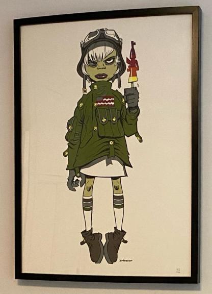 Jamie Hewlett - M16 Assault Lolly framed street art print