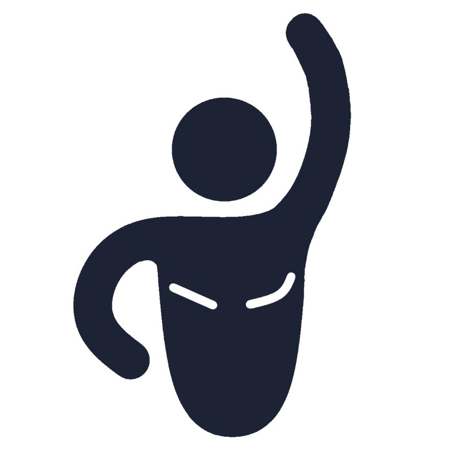 Flat mastectomy woman icon