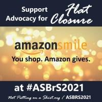 #notputtingonashirt infographic -  choose NPOAS as your charity on Amazon Smile to send us to #ASBRS20201