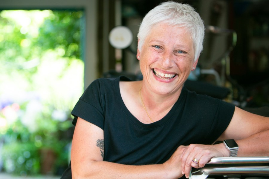 Full color headshot portrait of UK flat advocate Juliet Fitzpatrick