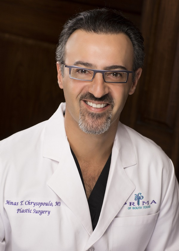 Full color portrait headshot flat advocacy nonprofit Not Putting on a Shirt NPOAS Advisory Council member Dr. Minas Chrysopoulo