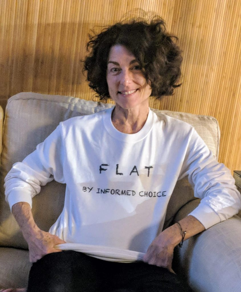 Full color portrait headshot flat advocacy nonprofit Not Putting on a Shirt NPOAS Board of Directors Devorah Anne Vester Borenstein