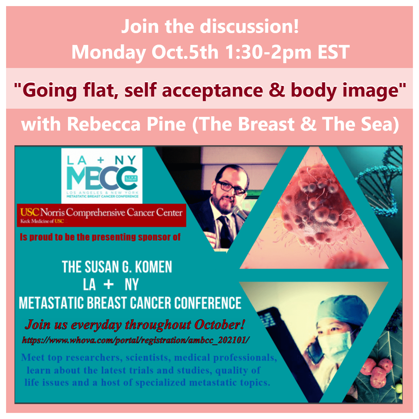 Rebecca Pine MBCC Komen webinar going flat after mastectomy body image