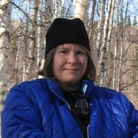 Debbie - NPOAS supporter portrait outside woods