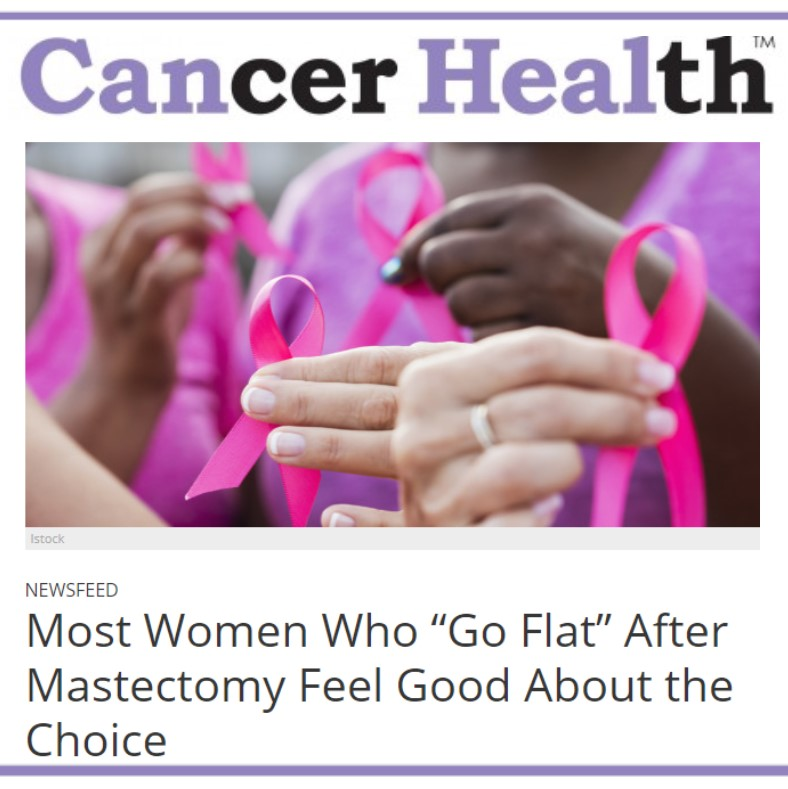 Cancer Health Magazine - Article on Aesthetic Flat Closure